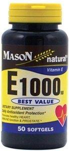 Mason Natural Vitamin E1000 Softgels - 50 Ea by Mason Vit...