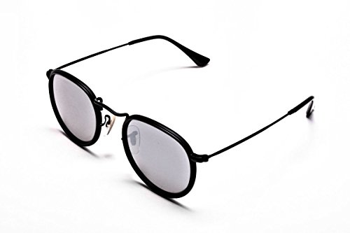 amp; UV400 Polarised Protective Mens TOM Best John with Mirrored Screwdriver Round Argent by Sunglasses ARCHER of Collection Womens Retro 80's Shades Sunglasses 2018 Case Lennon 7wpF6xZqUp