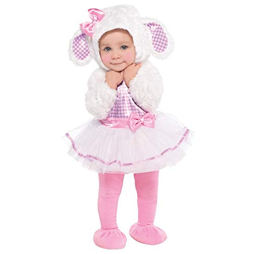 Amscan 846788 Baby Little Lamb Costume, 12-24 Months, Pink/White