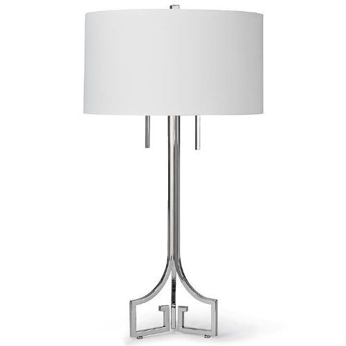 Regina Andrew 55-7391 Le Chic Polished Nickel Table Lamp White 15