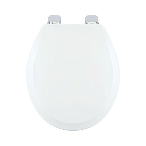 Centoco 700CH-001 Wood Round Toilet Seat with Closed Front, White