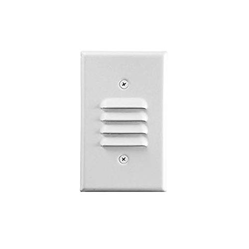 LED Mini Step/Stair Light with Vertical Louvered Wall Plates Included, Indoor,3000K, 1W, Wish Lighting(White Louver)