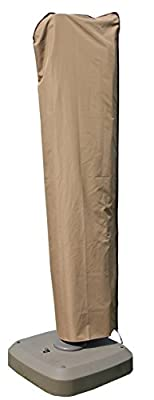 SORARA Offset Cantilever Umbrella/Parasol Cover for 9'-11' Umbrella, Water Resistant, Brown