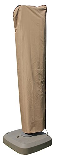 SORARA Cantilever Umbrella Cover, Offset Large Umbrella Cover for 9ft-11ft Umbrella with Push Rod, Wood Brown (Umbrella Deck Costco)