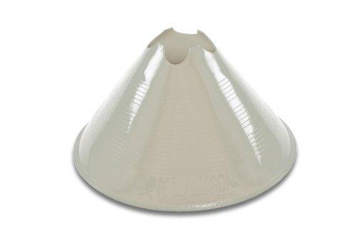 Kwik Goal Jumbo Disc Cone, Pack of 12 (White)