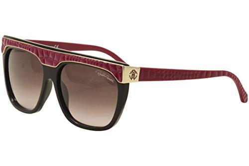 Roberto Cavalli Women's RC800S6005T Wayfarer Sunglasses,Black,60 - Cavalli Logo Sunglasses Roberto