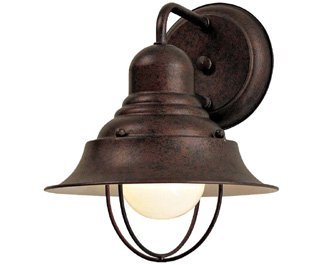 """Minka Lavery Outdoor Wall Light 71167-91 Wyndmere Exterior Wall Lantern, 100 Watts, Bronze - OUTDOOR WALL LIGHT DIMENSIONS: 10.25"""" High x 8.25"""" Wide x 8.5"""" Deep, Weight: 0.88 lbs, Wall Plate Mount: 5"""" W MEDIUM BASE LIGHT SOCKET: 100 Max Wattage, A19 Style Bulb, Compatible with E26 Base, Case Use: LED, Fluorescent, Halogen or Incandescent Bulbs, Does Not Include Light Bulb(s), Dimming possible when used with Dimmable Bulb and Dimmer Switch INSTALLATION: Lights Down Position. Includes 7"""" Long Wire and Comes with Hardware Mounting Kit - patio, outdoor-lights, outdoor-decor - 310aOivX hL -"""