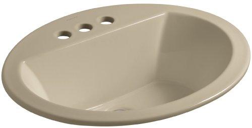 Cheap  KOHLER K-2699-4-33 Bryant Oval Self-Rimming Bathroom Sink with 4