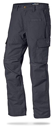 LA Police Gear Mens Urban Ops Tactical Cargo Pants - Elastic WB - YKK Zipper - Charcoal - 38 x 32