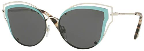 Valentino VA 2015 Silver Aquamarine/Grey 58/17/140 Women Sunglasses ()