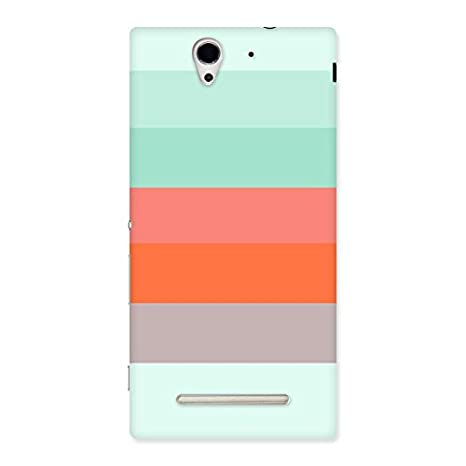 detailed look b905c f2b20 Stripes Pastels Back Case Cover for Sony Xperia C3: Amazon.in ...