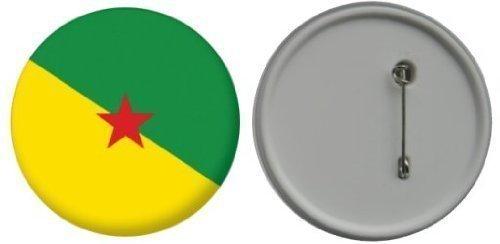 Button / badge drapeau Guyane franç aise - 58mm LetsCollect-it