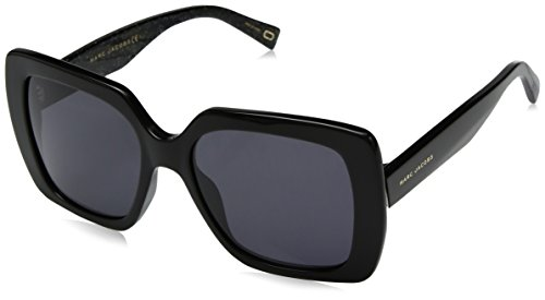 - Marc Jacobs Women's Marc230s Polarized Square Sunglasses, BK GLITTR, 53 mm