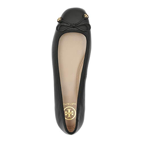 (Tory Burch Laila Driver Ballet Flats, Nappa Leather/Grosgrain, Perfect Black (8.5 M US))