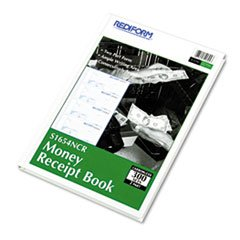 Hardcover Numbered Money Receipt Book, 2 3/4 x 6-7/8, Two-Part, 300 Fo
