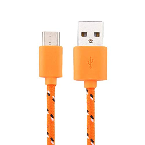 Hanku USB-C USB 3.1 Type C Data Charge Charging Cable for HTC Bolt (Orange)