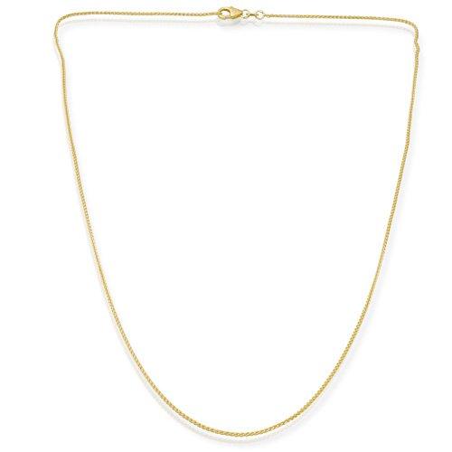 333er Goldkette: Zopfkette Gold 45cm lang