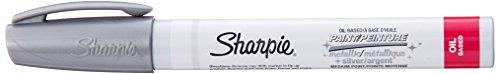 Sharpie Permanent Paint Marker, Medium Point, Silver