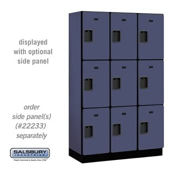 Salsbury Industries 3-Tier Extra Wide Designer Wood Locker with Three Wide Storage Units  sc 1 st  Amazon.com & Amazon.com: Salsbury Industries Assembled 3-Tier Extra Wide Standard ...