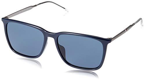 Tommy Hilfiger Men's TH1652GS Square Sunglasses, Blue, 55 mm (Tommy Hilfiger Sunglasses For Men In India)