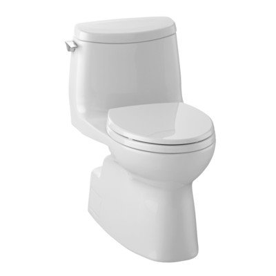 TOTO MS614114CUFG#01 1.0-GPF Carlyle II 1G High Efficiency Toilet with Sanagloss (1 Piece), Cotton