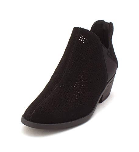 Stivali Stivali Stivali US Vintage In Crown Nero Camoscio Frauen Donna waS5WCq