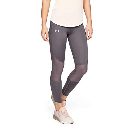 Under Armour Women's Speedpocket Run Crop, Ash Taupe//Reflective, X-Large by Under Armour (Image #1)