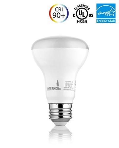 BR20 LED Bulb, Hyperikon, 8W (50W equivalent), 4000K (Daylight White, CRI 90+, Wide Flood Light Bulb, 120° Beam Angle, Medium Base (E26), Dimmable, UL-Listed