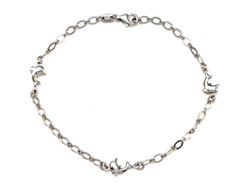 Finejewelers Sterling Silver 10 Inches 3 Dolphins Adjustable Ankle Bracelet by Finejewelers (Image #7)