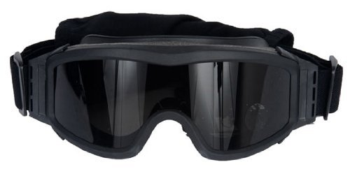 Lancer Tactical Black CA-203B Airsoft Safety Goggles w/ 3 Lenses by Lancer Tactical