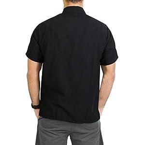 "LA LEELA Rayon Vintage Casual Camp Party Shirt Black XL   Chest 48"" - 52"""