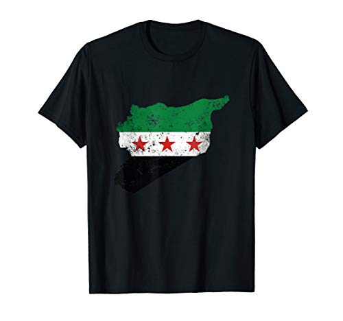 - Free Syria Map Independence Flag T-Shirt