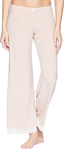 Eberjey Women's Lady Godiva Pant, Pink Clay/Off White, Small