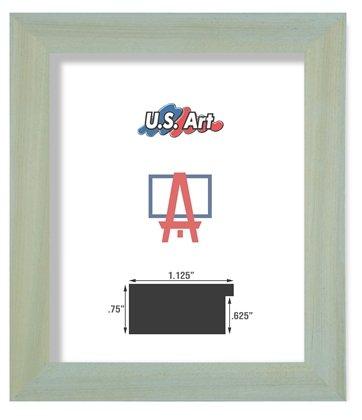 US Art Frames 24x36 Lightly Washed Grey 1.125 Inch Minimal D