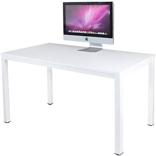 Need Escritorios 120x60cm Mesa de Ordenador Escritorio de Oficina Mesa de Estudio Puesto de Trabajo Mesa de Despacho, Blanco