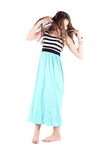 f620478382 Girls Maxi Dress, Kids Long Casual T-Shirt Sleeveless Dresses for Girls