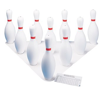 * PLASTIC BOWLING PIN SET by MotivationUSA