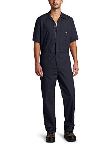 Dickies Men's Short Sleeve Work Uniform Coverall (Small Regular, Navy) ()