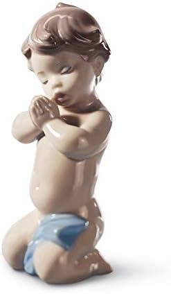 LLADR A Child s Prayer Boy Figurine. Porcelain Baby Figure.