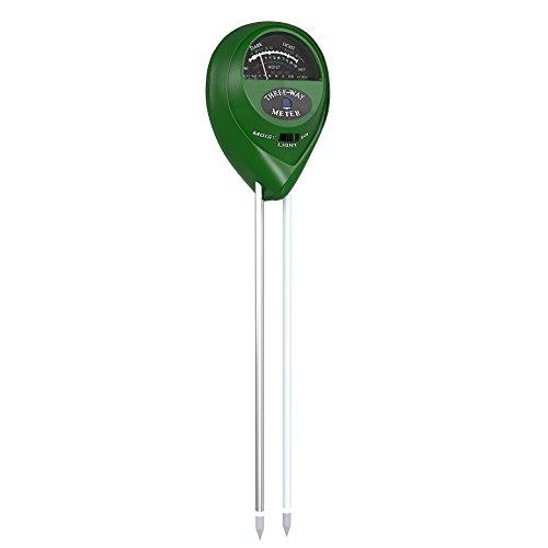 Soil Digital Meter Moisture (VersionTech Soil Meter, 3-in-1 Moisture Digital Soil PH/Light/humidity Tester Probe Kit for Home and Garden Plant/Farm/Lawn,Indoor & Outdoor (No Battery needed))