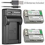 Kastar Battery (X2) & Slim USB Charger for Nikon EN-EL3e, ENEL3E, EN-EL3a, EN-EL3, MH-18, MH-18a and Nikon D50, D70, D70s,...