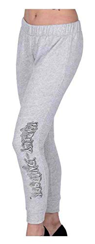 HARLEY-DAVIDSON Women's Night Brush Script Embellished Lounge Pants, Gray (XL)