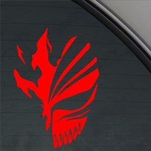 Bleach Red Sticker Decal Ichigo Kurosaki Red Car Window Wall Macbook Notebook Laptop Sticker Decal