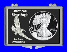 "3"" x 2"" Snaplock Coin Holder for ""American Eagle Silver Dollar"" (Without Coin)"
