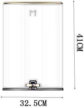 レトロな足で操作するゴミ箱、12Lの大容量収納ボックス、サイレントクッションは音を立てません、蓋のデザインで密封されたものは独特の臭いを発しません