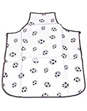 Enrych Groomer's Apron for Pets, White/Grey, 33""
