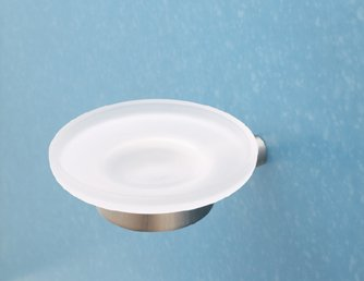 (Rohl SY600-STN, Rohl Bathroom Accessories, Wall Mounted Soap Dish - Satin)