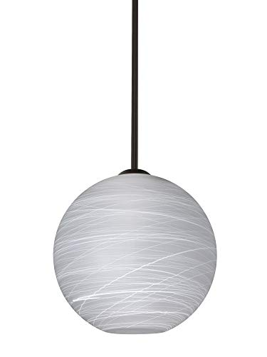 Besa Lighting 1TT-COCO1060-BR Coco 10 - One Light Stem Pendant, Bronze Finish with Cocoon Glass ()