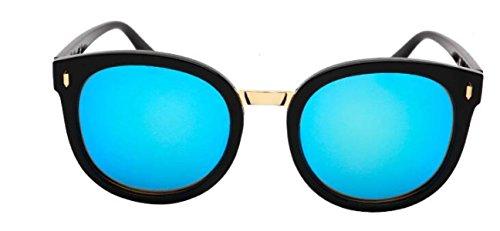 Lunettes De Soleil De Protection De La Mode Moderne Des Femmes Cadre Noir Couleur Lentille Lunettes De Soleil Anti-UV Cadeau Danniversaire blue