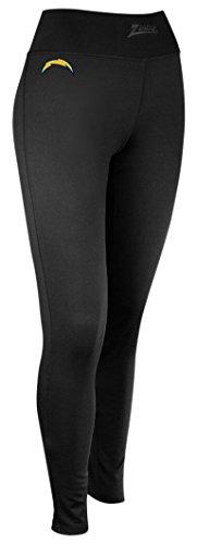 Zubaz NFL San Diego Chargers Women's Solid Team Logo Leggings, X-Small, Black